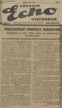 Łódzkie echo wieczorne z 1927 roku.jpeg